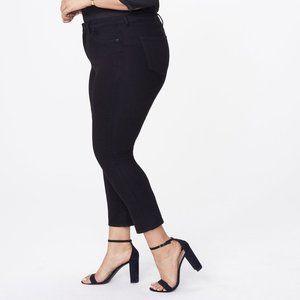 NYDJ NWT Sheri slim black skinny jeans size 14W